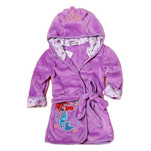 Toddler Baby Boys Girls Cartoon Bathrobe Flannel Robe Winter Night-Robe -