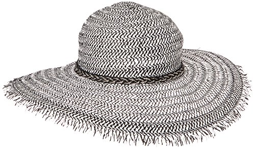 BCBGeneration Women's Braided Chain Floppy Hat, Black, One Size