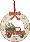 Primitives By Kathy 16 Inches x 16.50 Inches Wood - Merry Christmas Wreath