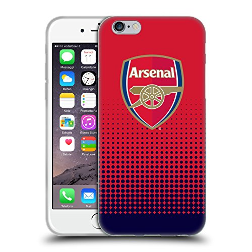 Official Arsenal FC Fade 2016/17 Crest Soft Gel Case for Apple iPhone 6 / 6s