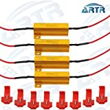 #3: 4PCS ARTR 50W 6ohm Load Resistors - Fix LED Bulb Fast Hyper Flash Turn Signal Blink Error Code