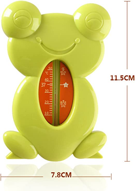 PP Material 11.5x7.8cm Yellow MagiDeal Cute Floating Frog Toy Bath and Room Tub Thermometer High Temperature Alert