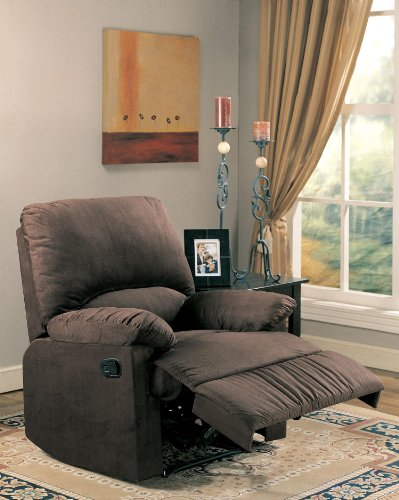 Coaster Casual Chocolate Microfiber Upholstered Recliner