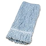 Genuine Joe GJO48258 Rayon Mop Head, Blue/White