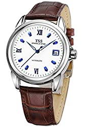 TSS Men's T5001PC4 Automatic Luminous Watch with Leather Band