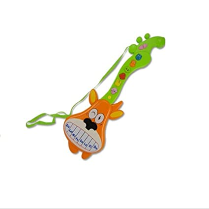 Amazon.com: Easyflower Wonderful Musical Instruments Toy Multifunctional Light Music Cartoon Electric Guitar(Orange Deer Models): Home & Kitchen