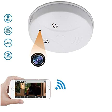 1080P HD Mini Spy Hidden Camera Smoke Detector, WiFi Wireless Home Security Video&Photo IP Surveillance