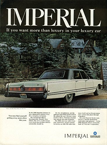 Find yourself getting away more often Imperial LeBaron by Chrysler ad 1968