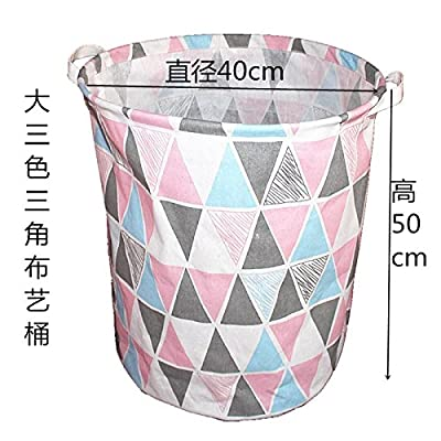 Luckyfree Panier à linge en coton d'vêtements sales jouets Panier Panier de rangement, snack-Débris Grande triangulaire 40cm * 50cm