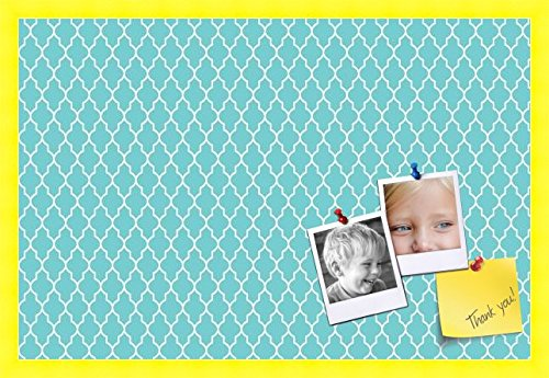 PinPix custom printed pin cork bulletin board made from canvas, Quatrefoil Patterns 30 x 20 Inches (Completed...