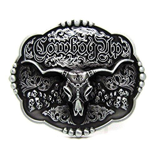 Head Skull Texas Belt Buckle Vintage Cowboy ()
