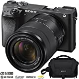 Sony ILCE-6300 a6300 4K Mirrorless Camera (Black) Bundle with 18-135mm F3.5-5.6 OSS APS-C E-mount Zoom Lens and Carry Case