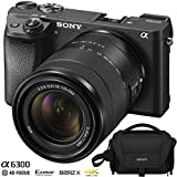 Cheap Sony ILCE-6300 a6300 4K Mirrorless Camera (Black) Bundle with 18-135mm F3.5-5.6 OSS APS-C E-Mount Zoom Lens and Carry Case