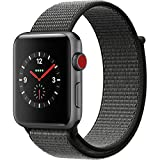 Apple Watch Series 3 - GPS+Cellular - Space Gray Aluminum Case with Dark Olive Sport Loop - 38mm