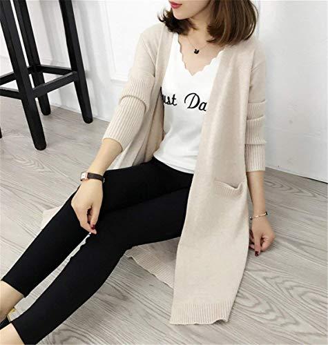 Cardigan Tricot Fashion Longues en Veste Manches Hiver Automne Saoye Femme Longues El Bvw4q4x1