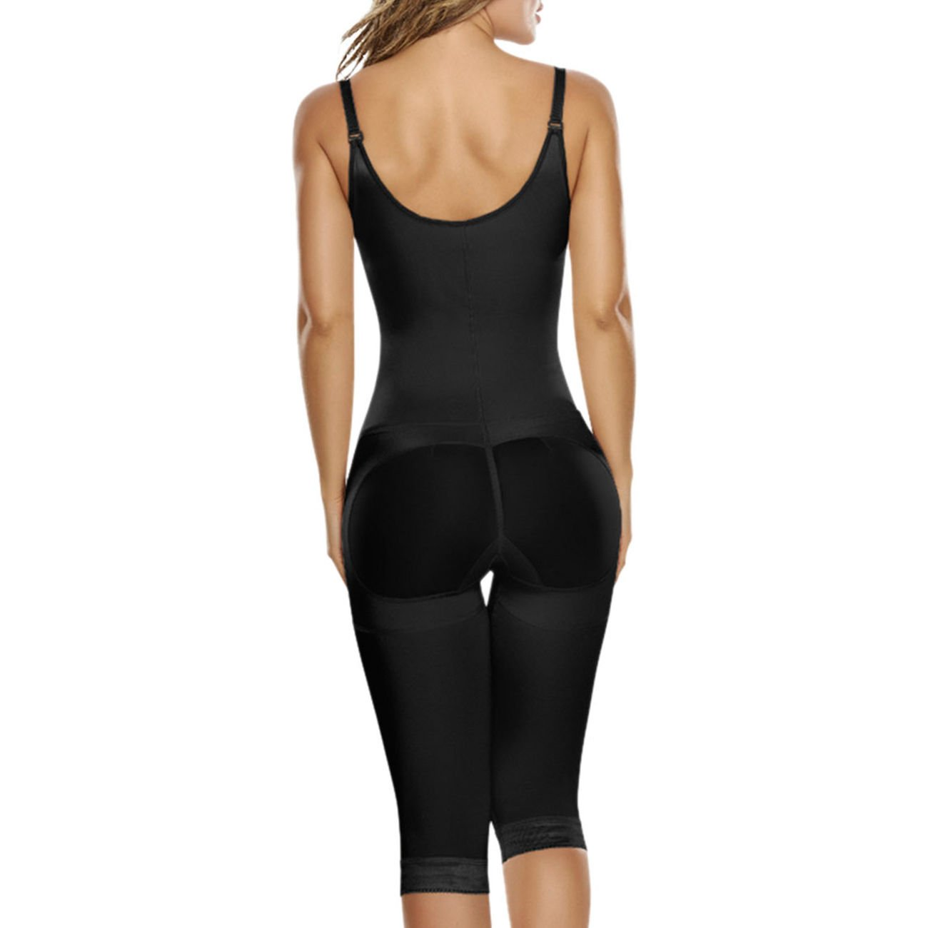 e5280931eaa TrueShapers 1222 Slimming Braless Body Shaper With Thighs Slimmer at Amazon  Women s Clothing store