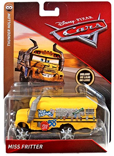 Disney Cars 3 DieCast Deluxe Thunder Hollow Miss Fritter School (Deluxe Bus)