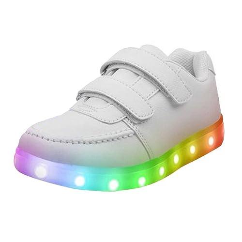 Sneaker con luci led scarpe sportive unisex per bambini e ragazzi ricarica usb CVBSF8h20
