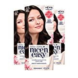 Clairol Nice 'n Easy Permanent Hair Color, 2.5 Soft Black, 3 Count (Packaging May Vary)