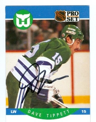 Autograph Warehouse 66930 Dave Tippett Autographed Hockey...