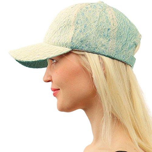Everyday Lace Light Plain Blank Baseball Sun Visor Solid Ball Cap Dad Hat Blue