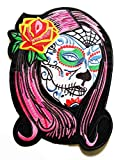 9.8'' X 7.5'' Jumbo Large Big Red Rose Sugar Skull