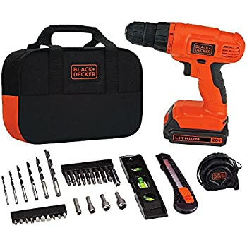 black and decker 20v drill. black \u0026 decker bdcd120va 20v lithium drill/driver project kit and 20v drill