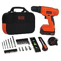 BLACK+DECKER 20V MAX Drill & Home Tool Kit, 34 Piece (BDCD120VA)