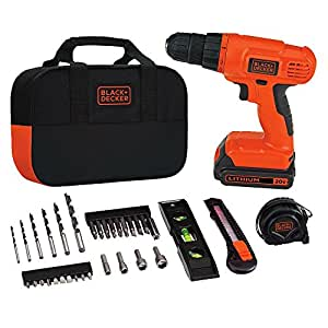 Black & Decker BDCD120VA 20V Lithium Drill/Driver Project Kit