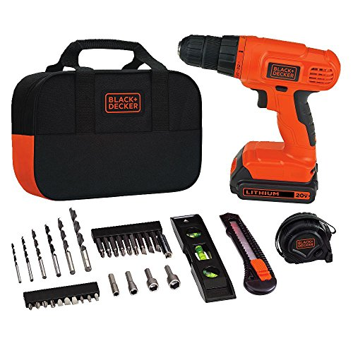 Black-Decker-BDCD120VA-20V-Lithium-DrillDriver-Project-Kit