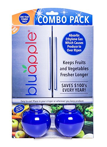 Bluapple One Year Combo Pack Produce Freshness Extender for Fresh Fruits and Vegetables to Extend the Life of Produce (Vegetable Keeper)