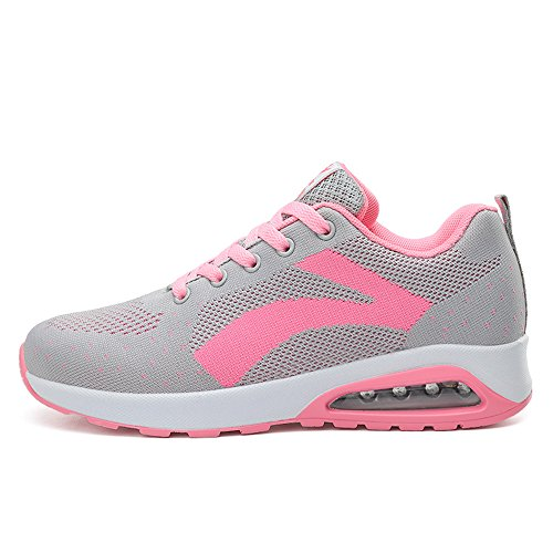 Zr629huisefen38 Enllerviid Donna Mesh Air Max Sport Scarpe Da Corsa Moda Walking Sneakers Grigio 6.5 B (m) Us