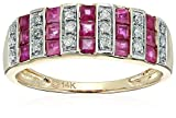 14k White Gold and Diamond Wedding Band(1/10 cttw, I-J Color, Clarity I2-I3), Size 7