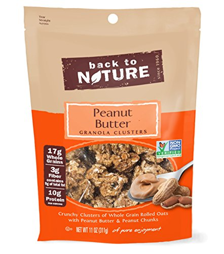 Back to Nature Non-GMO Peanut Butter Granola Clusters, 11 Ounce