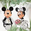 Bride & Groom Disney Mickey & Minnie Mouse Wedding Christmas Ornament 2 pc Set