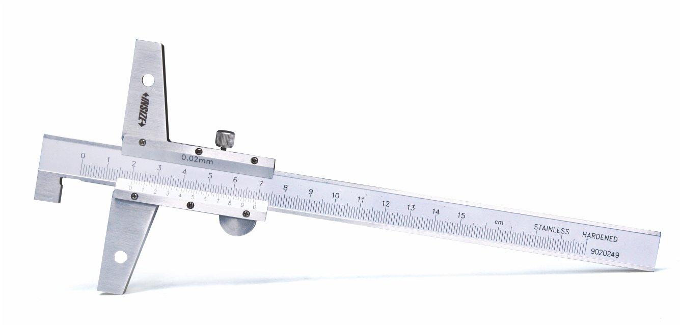 INSIZE 1248-3001 Vernier Hook Depth Gage, 0-300 mm, Graduation 0.02 mm INSIZE CO. LTD