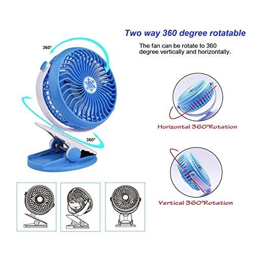 SODIAL Desktop Fan, Portable Mini Fan, Personal Desk Fan, Quiet Fan