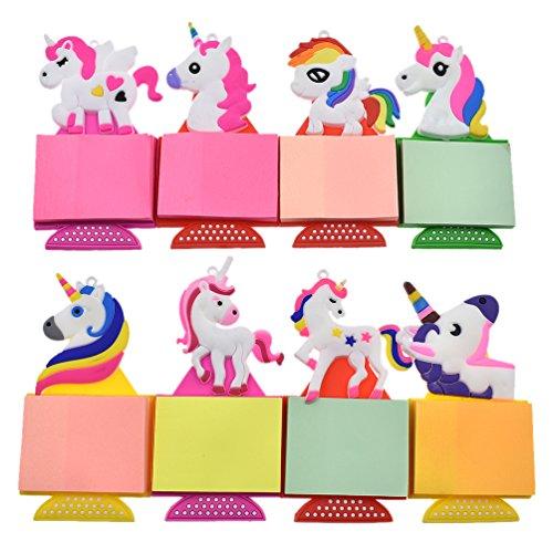 (Towashine 1Pc Unicorn Decorative Strong Refrigerator Fridge Magnets with Notepads Color Random)
