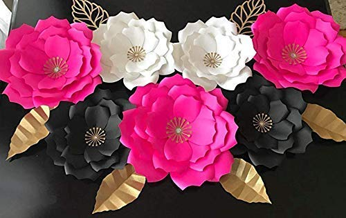KATE SPADE Inspired Medium HANDMADE paper flowers, use them as a backdrop for any event. Paper Flower Wall Art READY TO USE. No essembly needed. ()