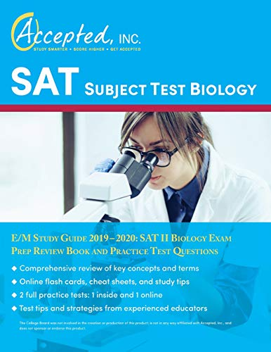 SAT Subject Test Biology E/M Study Guide 2019-2020: SAT II Biology Exam Prep Review Book and Practice Test Questions