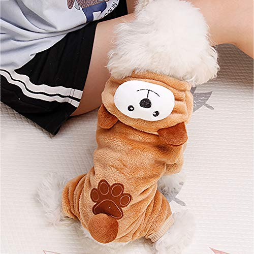 Pet Clothes Dog Cat Cute Pig Brown Bear Elephant Koalas Transfiguration Coat Dress Up Warm Dog Apparel Jacket Small Pet Clothes Sweatshirt Pig Sweater Dog Winter Outfits Doggy Costume (Coffee, S) by succeedtop (Image #3)