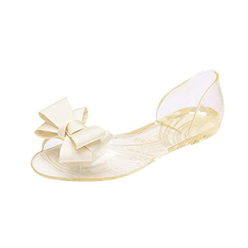 6bb130c29 Women flip Flops with Bow Clear Jelly Flat Shoes Casual Indoor Sandals de  Mujer Comfortable (