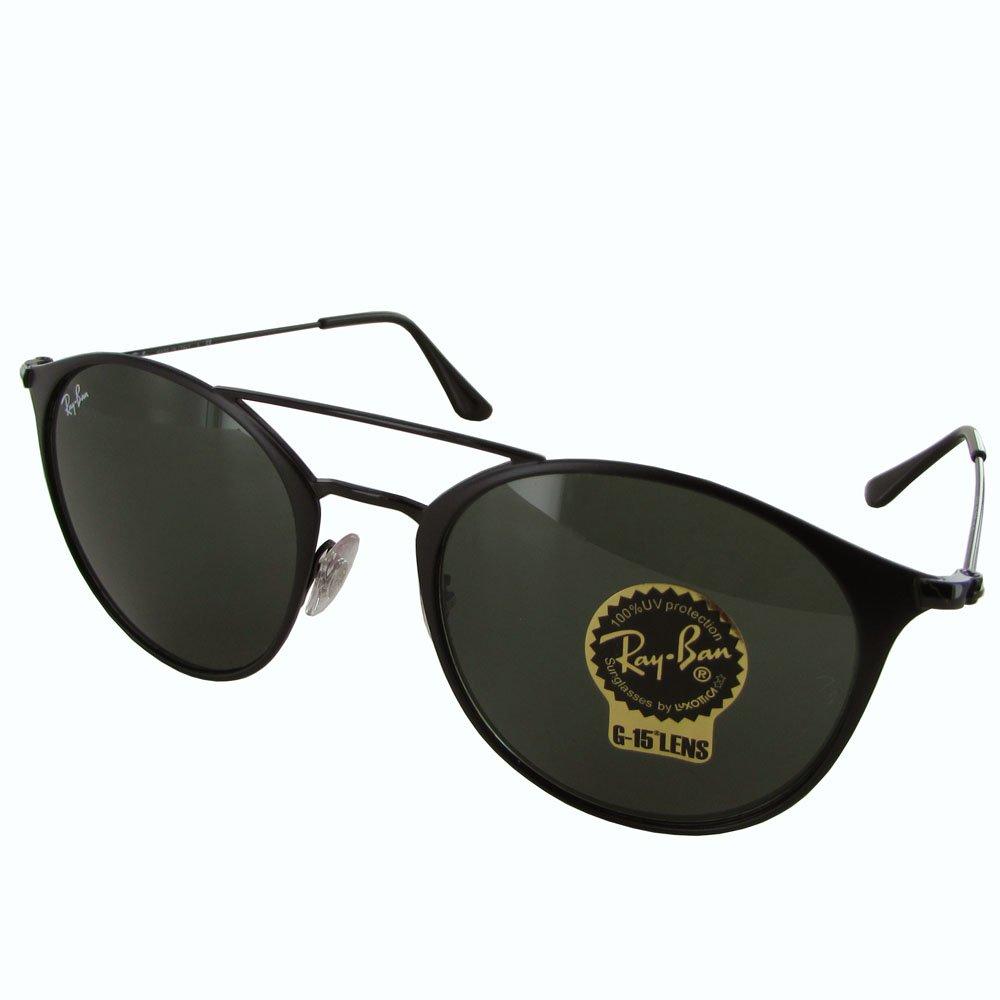 Ray-Ban Steel Unisex Round Sunglasses, Black Top Matte Black, 52 mm