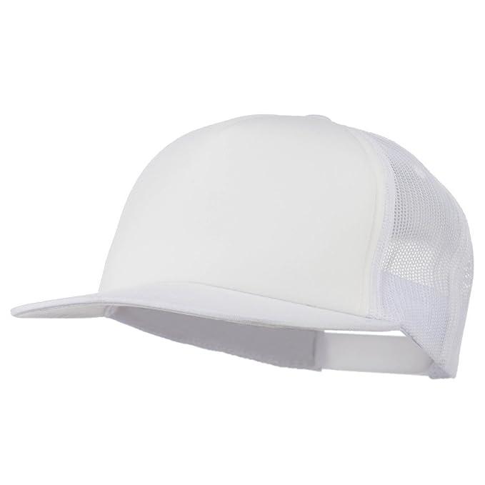 794131001 Foam Front Mesh Trucker Snapback Cap - White OSFM at Amazon Men's Clothing  store: