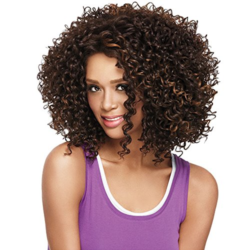 Search : Alan Hair Fashion Summer Dark Brown Color Kinky Curly Wigs, High-Temperature Synthetic Fiber Curly Wig for African American Women