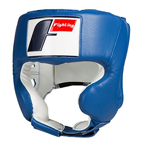 (Fighting Sports USA Boxing Competition Headgear (Cheek), Blue, Large)