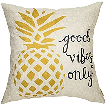 Amazon Com Fahrendom Good Vibes Only Watercolor Pineapple