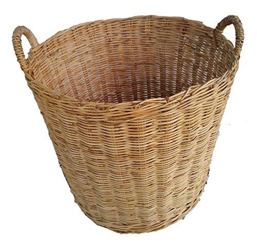Decorative handmade natural Wicker Woven Basket Organizer Fabric Inside Debris Storage Box cesta lavanderia cesto roupa (Halloween Display Ideas Nursery)