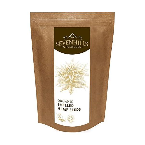 Sevenhills Wholefoods Organic Raw Shelled Hemp Seeds, European 500g