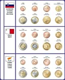 Lindner 8450-36 Illustrated page EURO COLLECTION: Euro Coin sets Slovenia/Malta/Cyprus